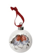 Wrendale Designs 'Snuggle Up Together' Christmas Bauble
