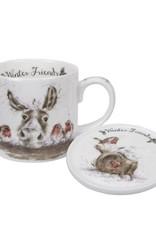 Wrendale Designs 'Winter Friends' Mug & Coaster Set