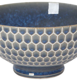 Now Designs Honeycomb Cereal Bowl - Blue - 6""