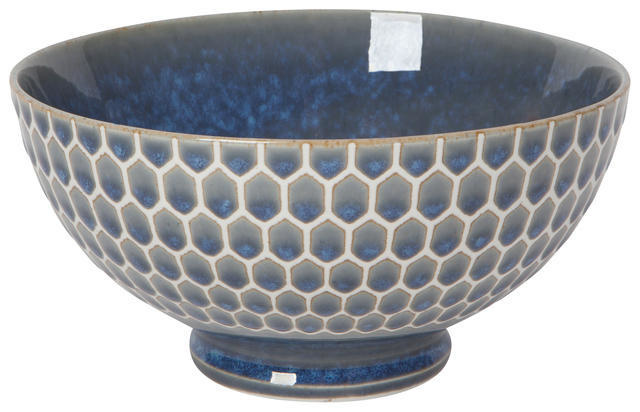 "Now Designs Honeycomb Blue 6"" Cereal Bowl"