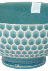 "Now Designs Honeycomb Teal 6"" Cereal Bowl"