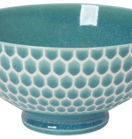 Now Designs Honeycomb Cereal Bowl - Teal - 6""