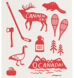 Now Designs Swedish Dishcloth - O Canada