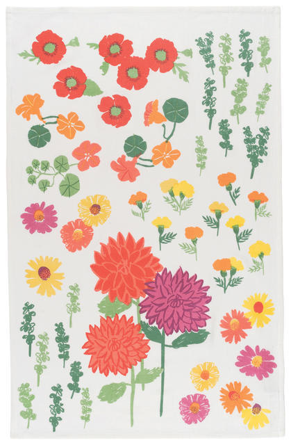 Now Designs Tt S/3 Floursack - Flowers of the Month