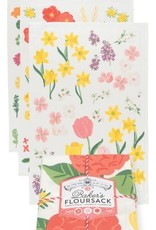 Now Designs Floursack S/3 - Flowers of the Month Tt.