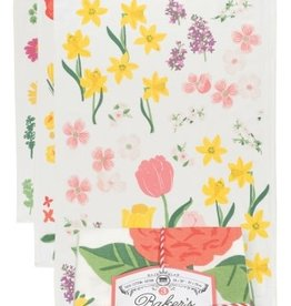 Now Designs Flowers of the Month S/3 Floursack Dish Towels