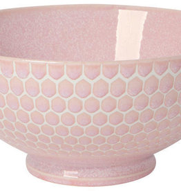 """Now Designs Honeycomb  Serving Bowl - Pink - 8"""""""