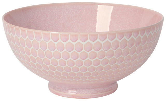 "Now Designs Honeycomb Pink 8"" Serving Bowl"