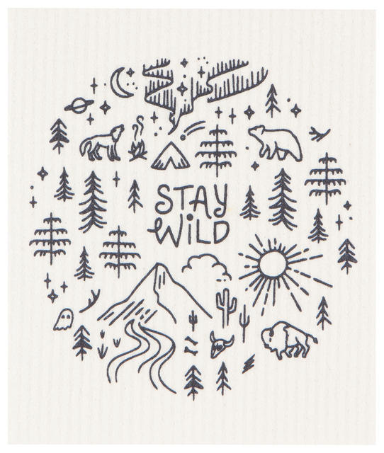Now Designs Swedish Dishcloth - Stay Wild