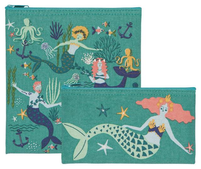 Now Designs Snack Bags S/2 Mermaids