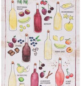 Now Designs Wine Aromas Dishtowel