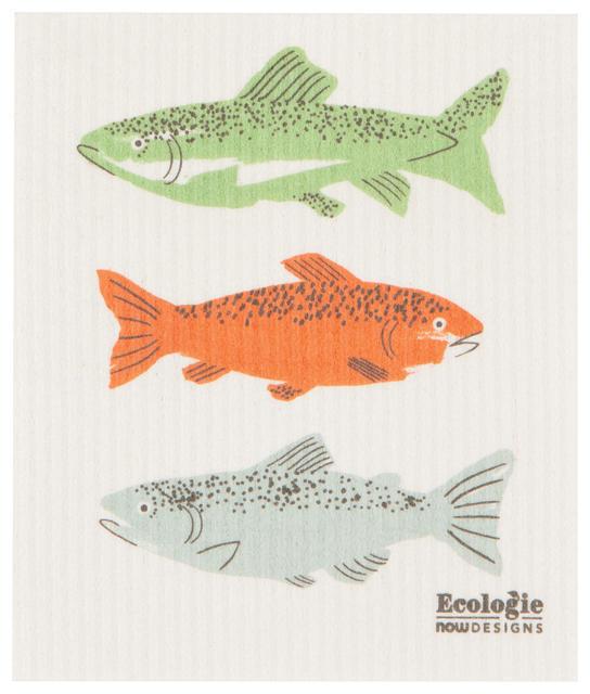 Now Designs Swedish Dishcloth - Gone Fishin