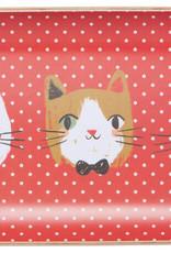 "Now Designs Willow Tray - Meow Meow 5"" x 9"""