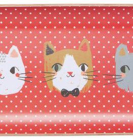 "Now Designs Meow Meow  Willow Tray - 5"" x 9"""