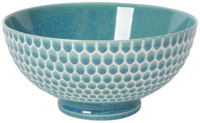 "Now Designs Honeycomb Teal 8"" Serving Bowl"