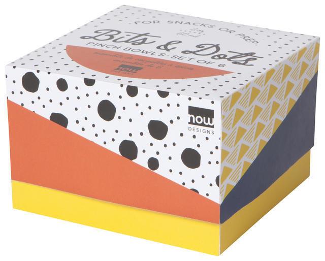 Now Designs Bits & Dots - Pinch Bowls S/6