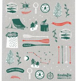 Now Designs Swedish Dishcloth - Summer Camp