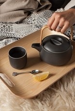 "Now Designs Rectangle Tray w/ Handles - White Oak 15.75"""