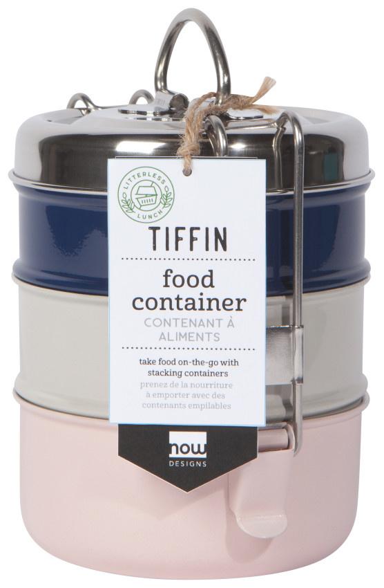 Now Designs Tiffin 3-Tier Food Container - Posy