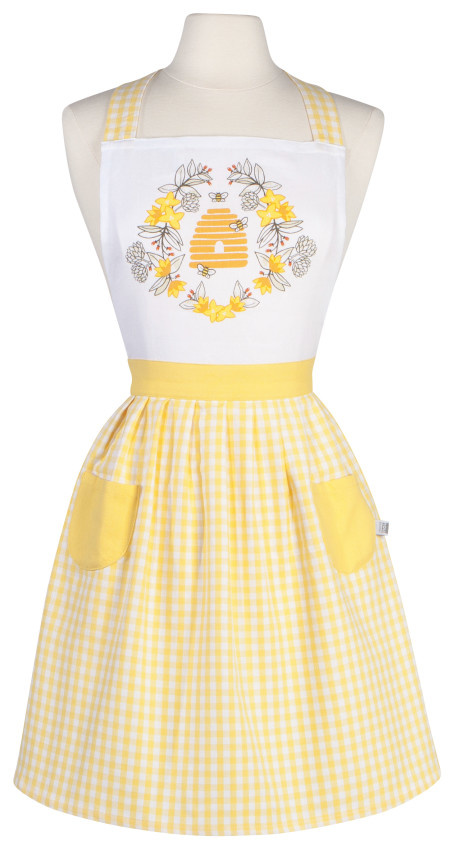 Now Designs Classic Apron - Bees