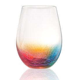 Crackle Stemless Wine Glass 20oz