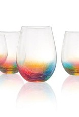 Crackle Stemless Wine Glass 20oz