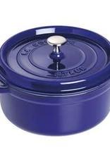Staub 5.2L / 5.5qt Cast Iron Round Cocotte - Blue