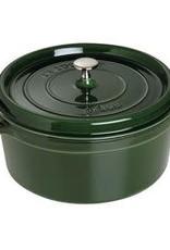 Staub 5.2L / 5.5qt Cast Iron Round Cocotte - Basil