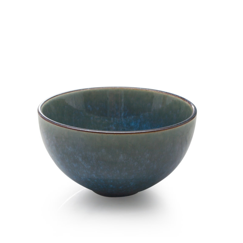"4.5"" Reactive Glazed Dip Bowl - Green"