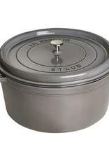 Staub 12.6L / 13.25qt Cast Iron Round Cocotte - Grey