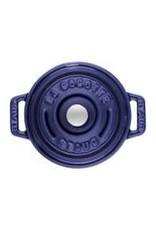Staub 250ml / 8oz Cast Iron Round Mini Cocotte - Blue
