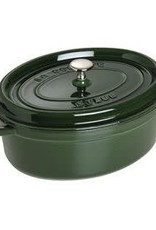 Staub 4.25L /4.5qt Cast Iron Oval Cocotte  - Basil