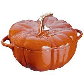 Staub 3.5L /3.7qt Cast Iron Pumpkin Cocotte - Cinnamon