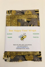 Bee Happy Food Wraps Bee Happy Food Wraps Set of 4 - Assorted Colours