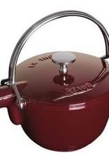 Staub 1.15L  /1.2qt Cast Iron Tea Pot - Grenadine