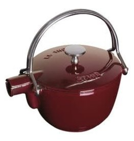 Staub 1.15L  /1.2qt Cast Iron Tea Pot -  Grenadine