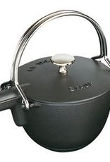 Staub 1.15L  /1.2qt Cast Iron Tea Pot - Black
