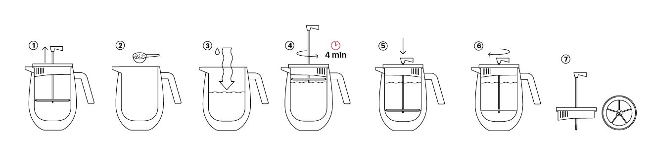 Columbia  Stainless Steel French Press 0.5L/17oz