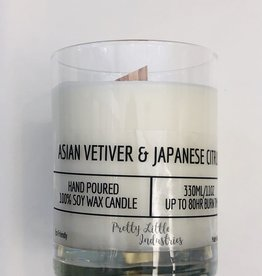Asian Vetiver & Japanese Citrus Wood Wick Candle - 330ml