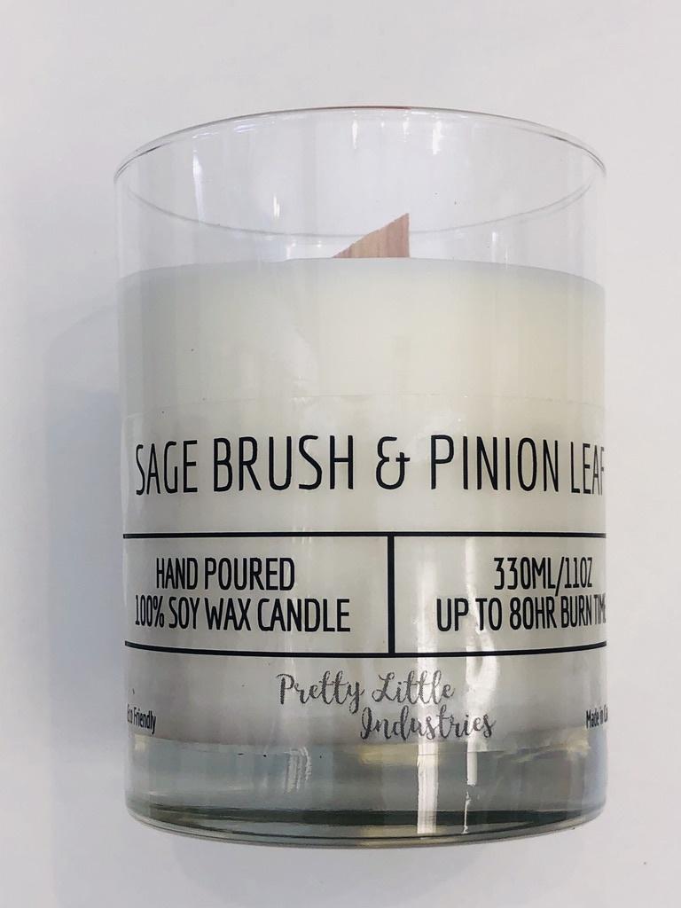 Sagebrush & Pinion Leaf Wood Wick Candle - 330ml