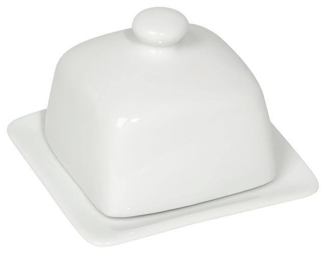 Now Designs White Square Butter Dish