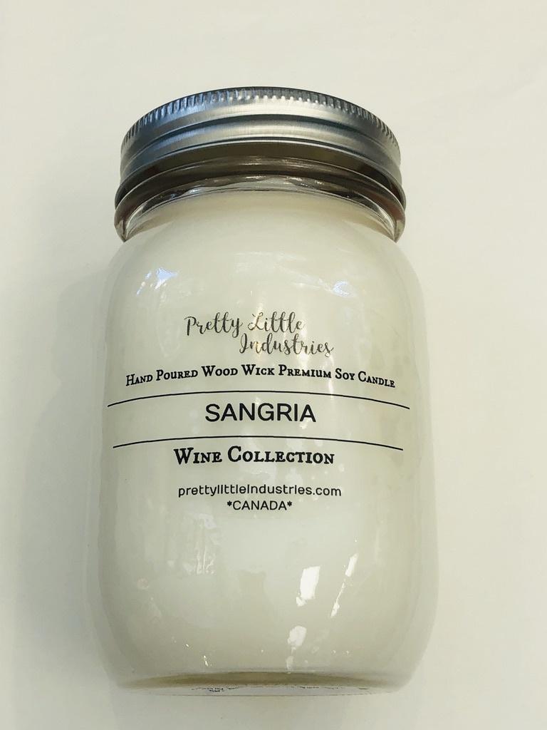 Wood Wick Candle - Sangria - 500ml