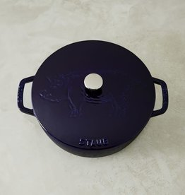 Staub 3.75L /3.9qt Cast Iron French Oven - Blue - Pig Lid