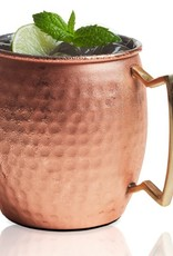 Moscow Mule Mug - Hammered Copper & Stainless Steel - 20oz