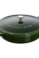 Staub 3.8L /4qt Cast Iron Saute Pan Chistera - Basil