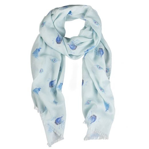 Wrendale Designs 'Practically Perfect' Peacock Scarf