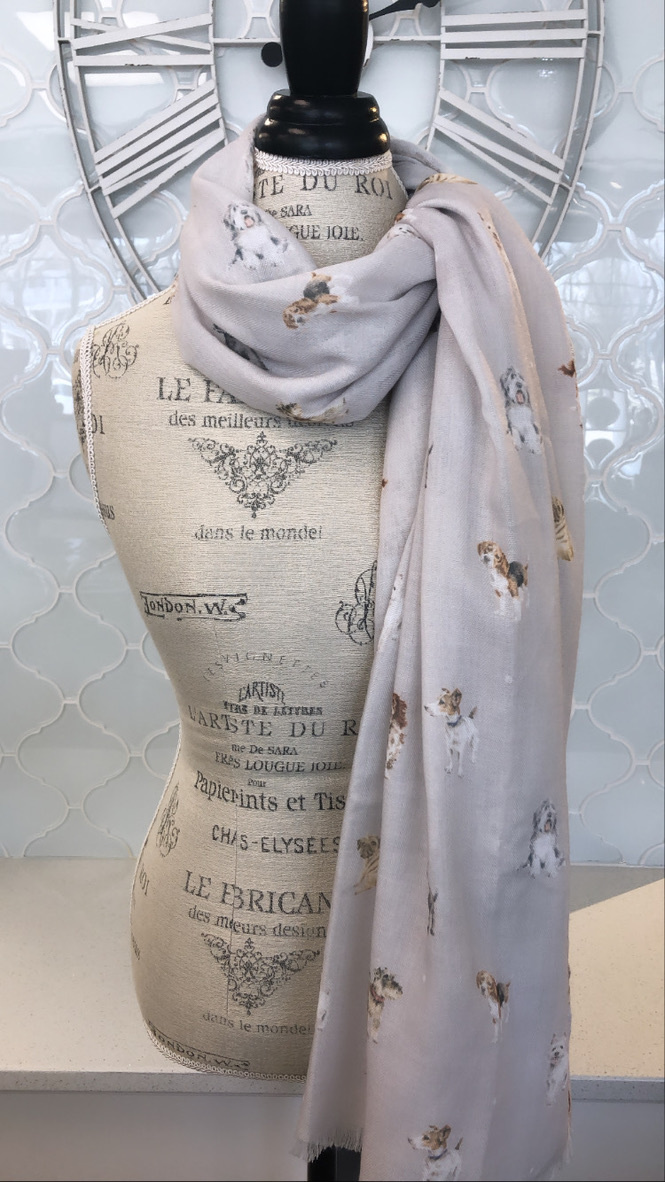 Wrendale Designs 'A Dog's Life' Truffle Scarf