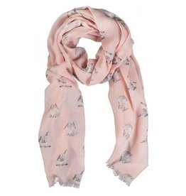 Wrendale Designs 'Some Bunny' Pink Champagne Scarf