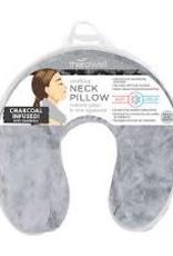 Soothing Neck Pillow Charcoal - Natural Clay Bead Filled