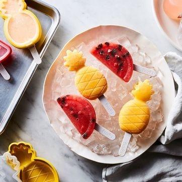 Tropical Fruit Ice-cream Molds - Set of 4
